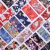 Черный красный хлопок вишневый цвет Бронзирующая ткань, бабочка кран Precut швейная ткань Лоскутная стеганая DIY японская ткань 6