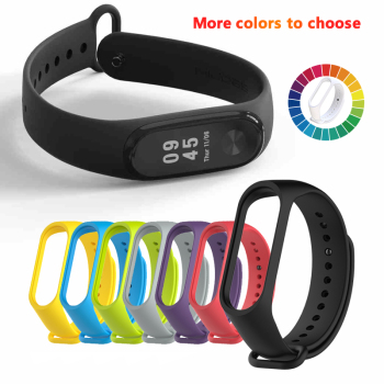 Silicone Strap For Xiaomi Mi Band 3 4 Colorful Strap Anti-sweat Comfortable Breathable Strap Buckle Replacement Wrist Straps 1