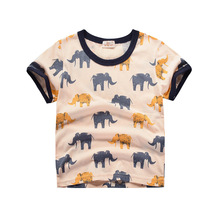 Cottons T Shirt Kids 2019 Summer Baby Boys T-shirt Toddler Girls Tops Animal Baby T Shirts Children Tees Kids Clothes jumping meters kids girl t shirt summer baby cotton tops toddler tees clothes children clothing unicorns baby girls t shirts