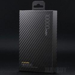 NITECORE NB10000 10000 мАч 3,85 В Быстрая зарядка с двумя выходами USB и USB-C внешний аккумулятор для путешествий и кемпинга EDC инструменты светильник вес