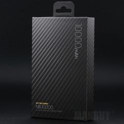 NITECORE NB10000 10000mAh 3.85V Charge rapide double sortie USB et USB-C batterie externe voyage en plein air Camping EDC outils légers