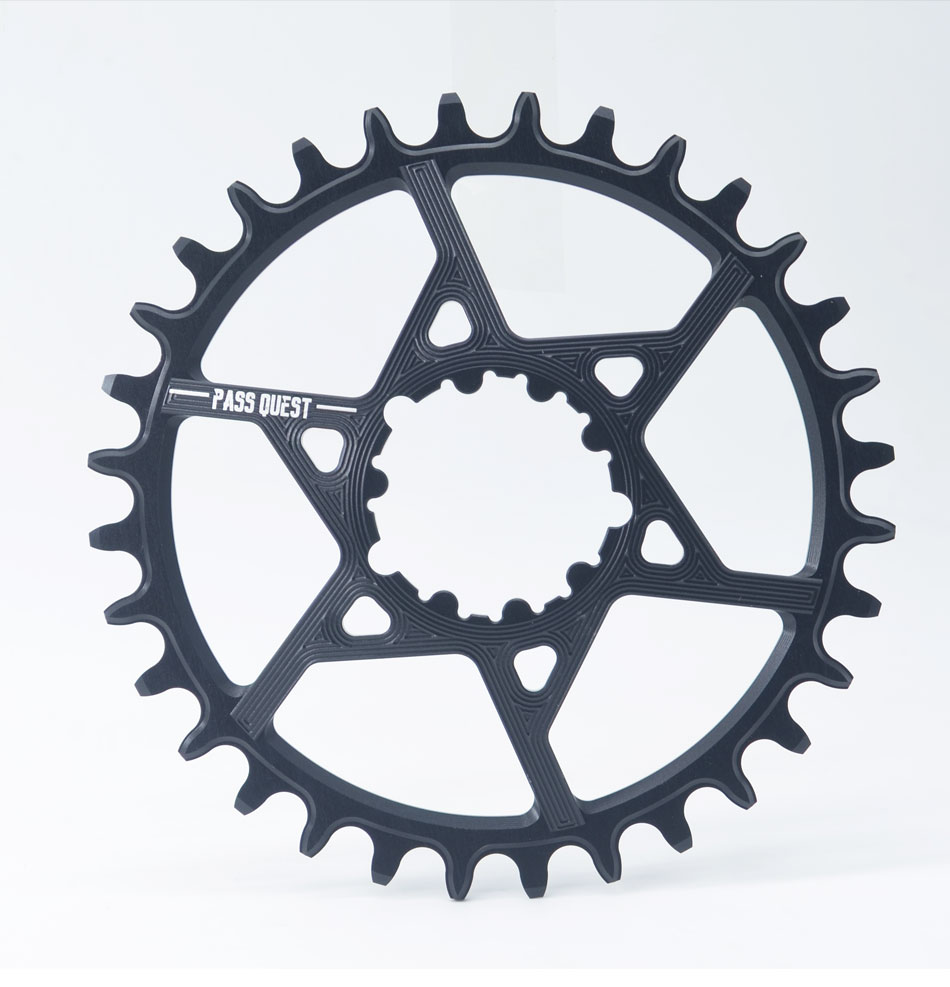 PASS QUEST GXP MTB <font><b>Narrow</b></font> <font><b>Wide</b></font> Chainring <font><b>32T</b></font>-38T 3mm Offset Mountain Bike Chainwheel Bicycle Crankset image