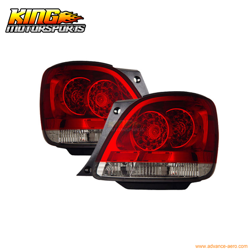 Fit For 1998-2005 <font><b>Lexus</b></font> <font><b>GS300</b></font> 400 430 LED <font><b>Tail</b></font> <font><b>Lights</b></font> Red Clear USA Domestic Free Shipping image