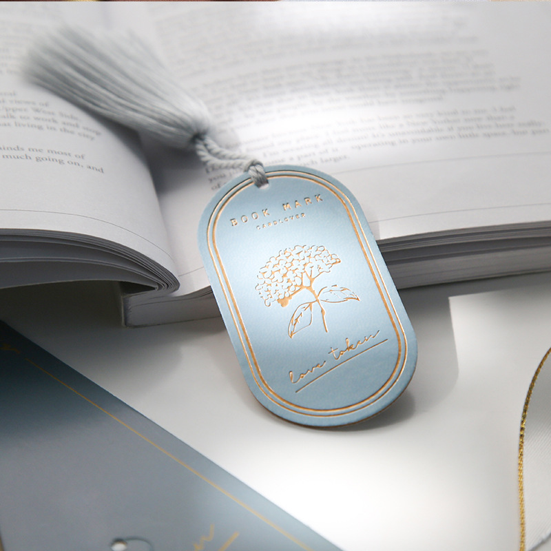 The Love Of Flower Creative PU Leather Bookmark 40mm*80mm Romantic Stationery Gift