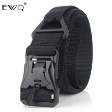 EWQ / 3.8cm New Nylon Belt Men's Magnetic Buckle Tactical Belt Quick Release Alloy Buckle 2020 Tide New 9Y404