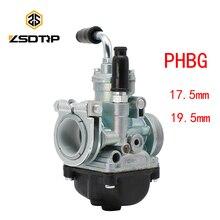 ZSDTRP Motorcycle PHBG Carburetor  For 50-100cc Engine 2 stroke 17.5mm 19.5mm racing motor PHBG17.5 PHBG19.5 Dellorto Model