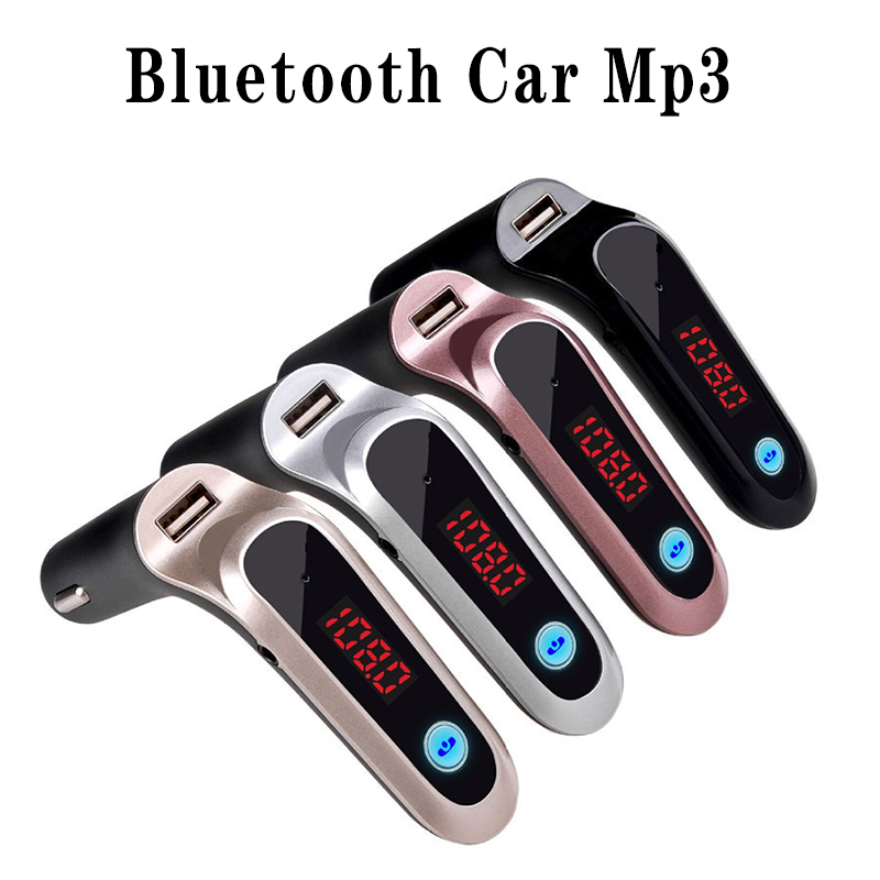 USB TF Card Support Charger Wireless Bluetooth Car Kit LCD Hands-Free FM Transmitter MP3 Music Player Mobile Phones Tablets