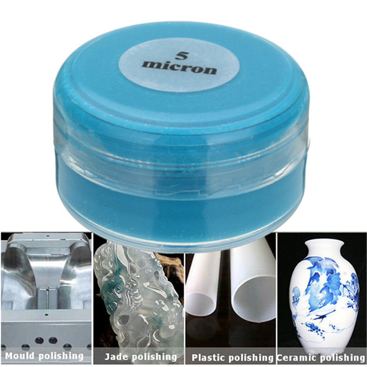 20g/box 5 Micron Diamond Polishing Lapping Paste Pastes Compound  Metal Grinding Polishing Abrasive Tools Emerald Agate Crystal