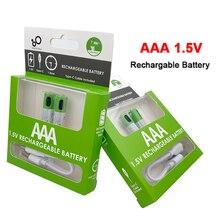2 sztuk/partia 1.5V AAA akumulator 550mWh USB akumulator litowo-jonowy AAA do zdalnego sterowania bezprzewodowa mysz + kabel