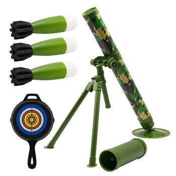 يمكن إطلاق طلقات صاروخية من مدافع الهاون الأطفال محاكاة الصواريخ العسكرية لعبة نموذج شبكة Reds أوصى الصبي الجدة العسكرية