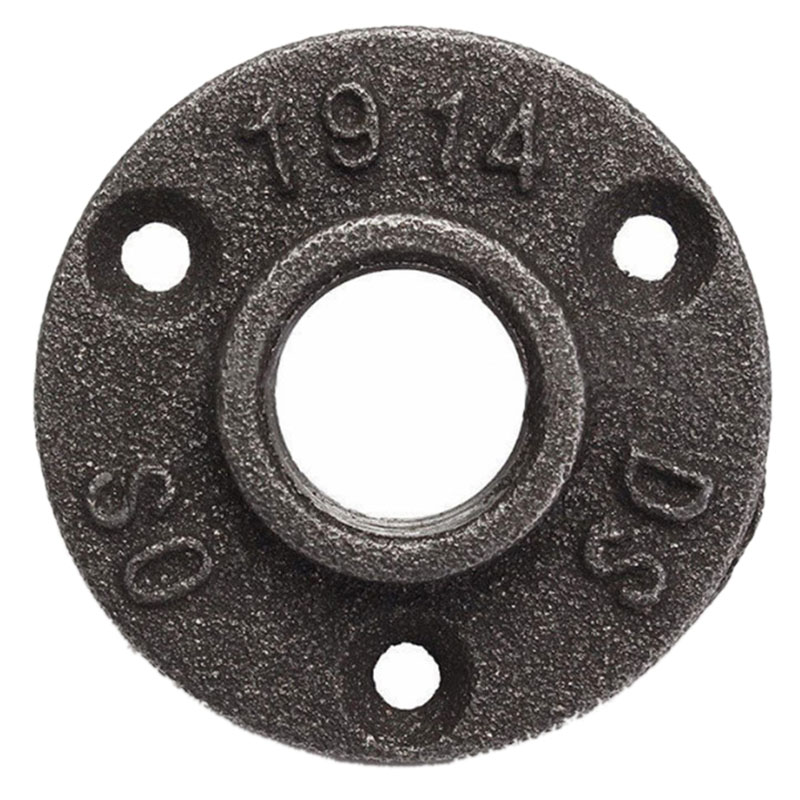 10Pcs/Lot <font><b>Dn15</b></font> Bsp Thread Malleable Iron Pipe Fittings Wall Mount Floor Antique Retro Style <font><b>Flange</b></font> Hardware Tool Iron Casting Fl image