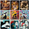 Cat Oil Picture By Number Animal Canvas DIY Craft Kits For Adults Frame Acrylic Paint Coloring Painting By Number Wall Art Decor