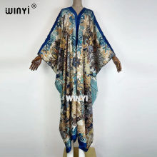 WINYI jurken zomer 2021 dames maxi sukienka dress Color Print Bohemia Loose Elegant party Muslim العبايات Robe Gowns