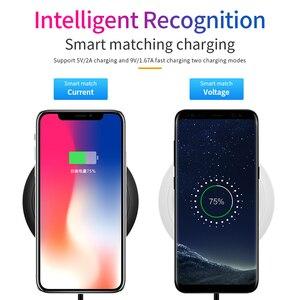 Image 2 - 10 ワットチーワイヤレス充電器サムスンS9 S10 iphone 11 プロx xs最大 8 プラスhuawei社P30 プロ高速ワイヤレス誘導充電パッド