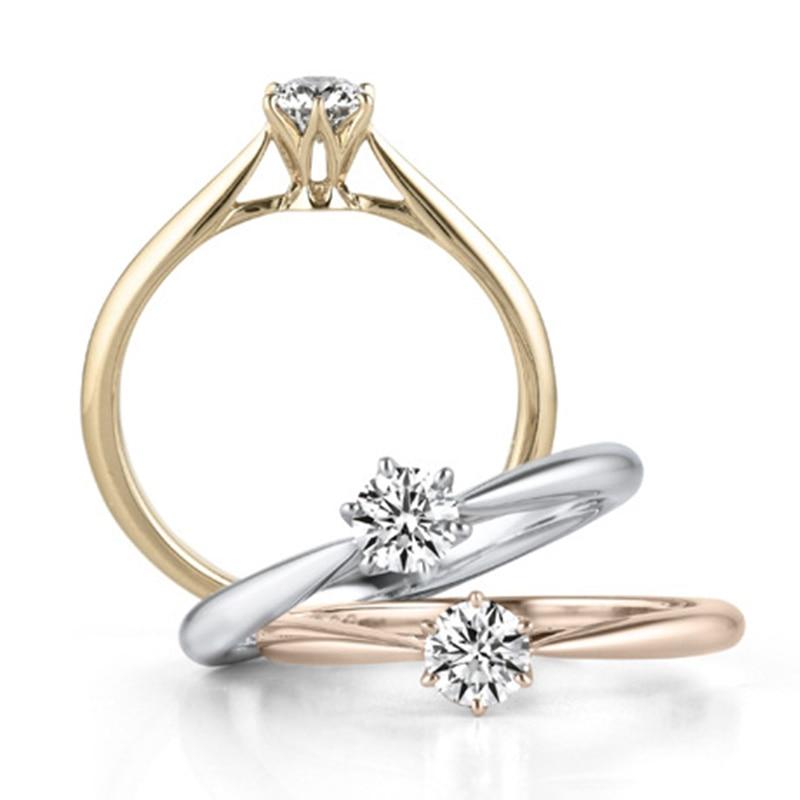 2018 Anillos De Compromiso clásicos de cobre blanco minimalista para mujeres de Color oro/oro rosa/plata para damas
