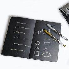 A5/A6 черный пустой блокнот, сделай сам пустой черный бумажный альбом