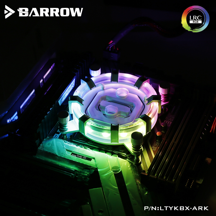 Barrow CPU Water Block use for <font><b>INTEL</b></font> <font><b>LGA</b></font> 2011 <font><b>2066</b></font> X99 X299 Radiator 5V GND to 3PIN Hearder Motherboard image
