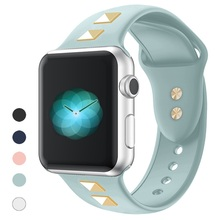 soft Silicone Sports Band for Apple Watch 5 4 3 2 1 38MM 42MM Bands Rubber Watchband Strap for Iwatch series 4 5 40mm 44mm цена и фото