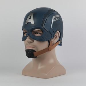 Image 3 - Cosplay Captain Mask America Civil War Mask Halloween Helmet Latex Mask Cosplay Costume
