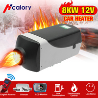 8000W Air diesels Heater 8KW 12V Car Heater For Trucks Motor Homes Boats Bus +LCD Monitor Switch +Remote Control + Silencer