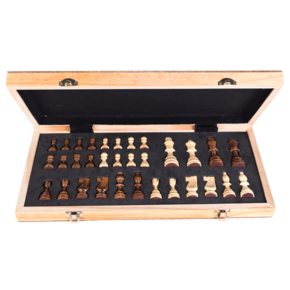 New Portable Chess Wooden Magnetic Chessboard Folding Board Chess Game International Chess Set For Party Family Activities