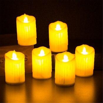 4x беспламенный светодиодный светильник для свечей, светодиодный светильник для свечей, Свадебный декор
