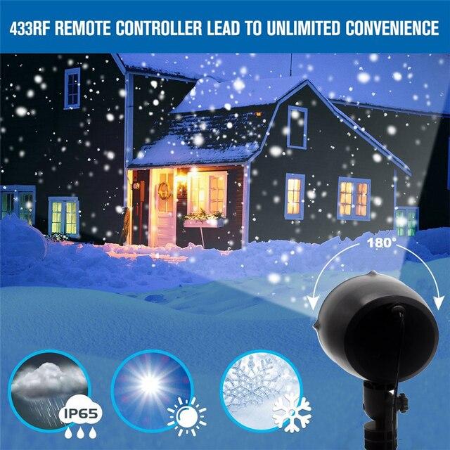 Đèn LED Đèn Giáng Sinh Tuyết Rơi Máy Chiếu IP65 Flurries Rơi Ngoài Trời Đèn Sân Vườn Tuyết Tại Chỗ Cho Đèn Led Trang Trí