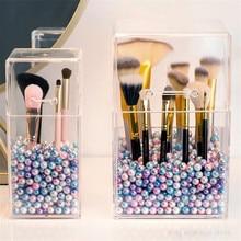 Organizer Makeup-Brush-Holder Acrylic Cosmetic Storage-Box Clear 30-