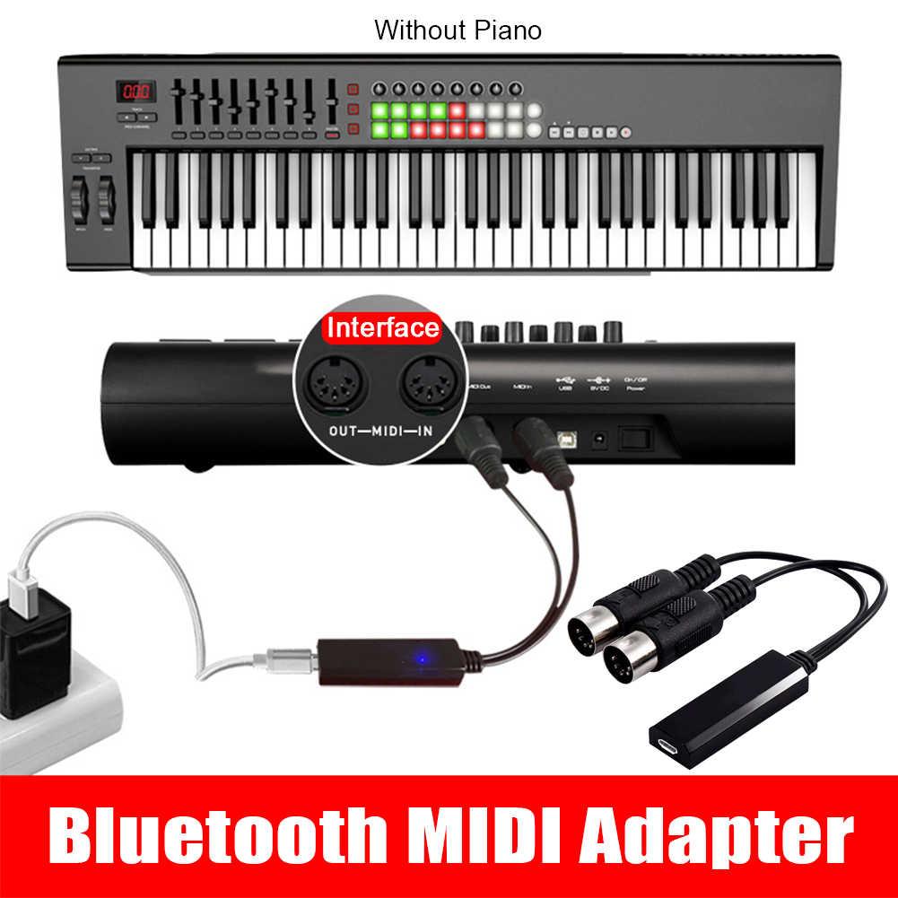 Nhạc Cụ Bluetooth Không Dây Đa Năng Di Động Phòng Thu 5 Pin Cáp Hifi Bộ Chuyển Đổi MIDI Adapter Piano Điện Âm Thanh