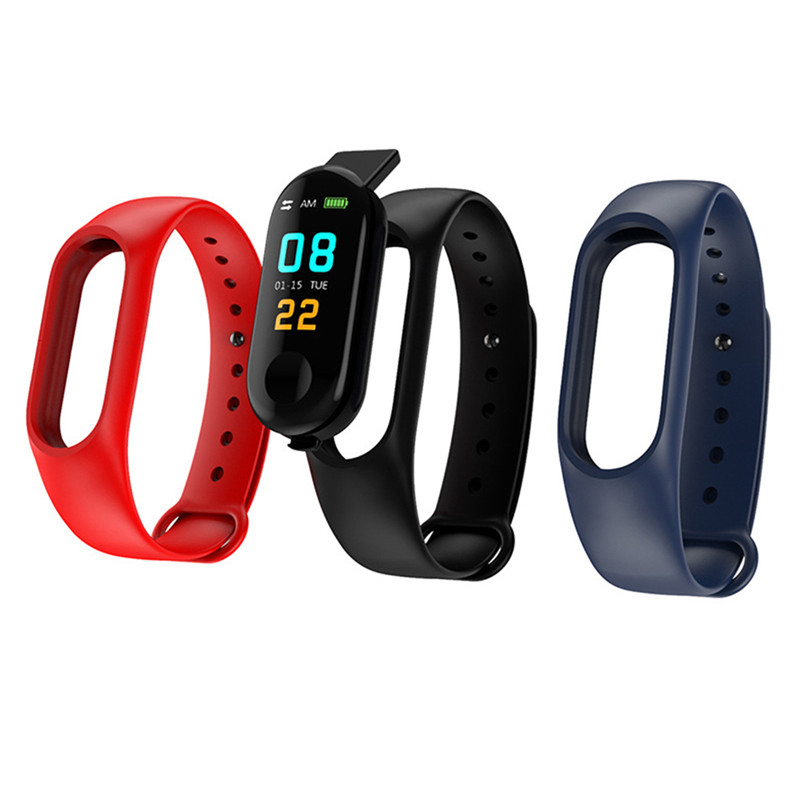 New Watch Colorful Smart Bracelet Accessories Replacement Strap Silicone Bracelet For M3/M4 Bracelet Solid Color