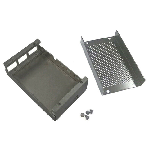 Cooling Electronic Protective Case Box Easy Install Metal Anti Scratch Exhaust Hole Enclosure Aluminum Alloy For Raspberry Pi 4 Karachi
