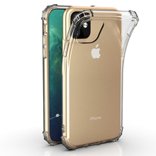 For iPhone 11 2019 Crystal TPU Soft Back Case Pro Shockproof Phone Slim Clear Cover for 5.8inch