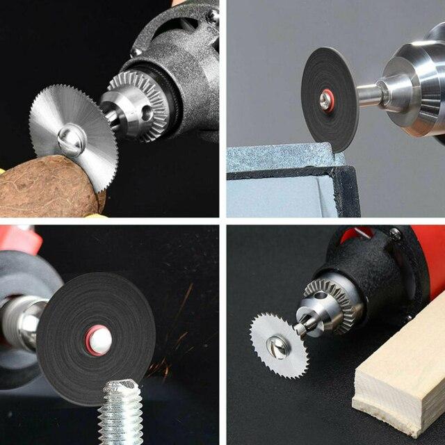 1 Set Portable Mandrels Circular Saw blades Cutting Discs Screwdrivers High Speed Steel Diamond Resin Grinder