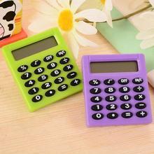 Студенческий маленький мини электронный калькулятор Конфеты 5 цветов расчетные офисные принадлежности подарок