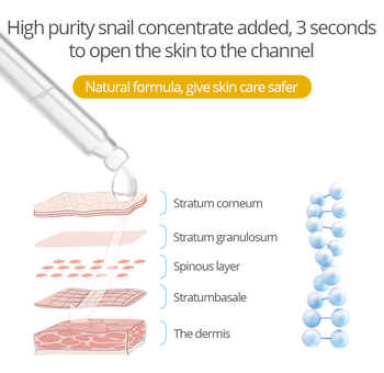 Facial serum Snail Essence Hyaluronic Acid Face Serum Moisturizing Whitening Lifting Firming Essence Anti-Aging Face Skin Care
