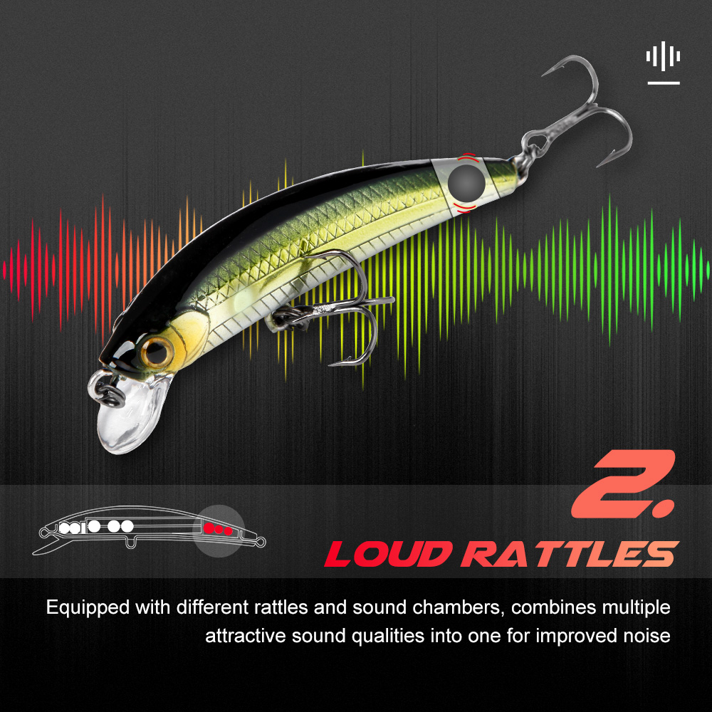 Evercatch ghosts sinking minnow rattling jerkbait fake fish artificial chatterbait for bass pike perch trout fishing tackle lure-3