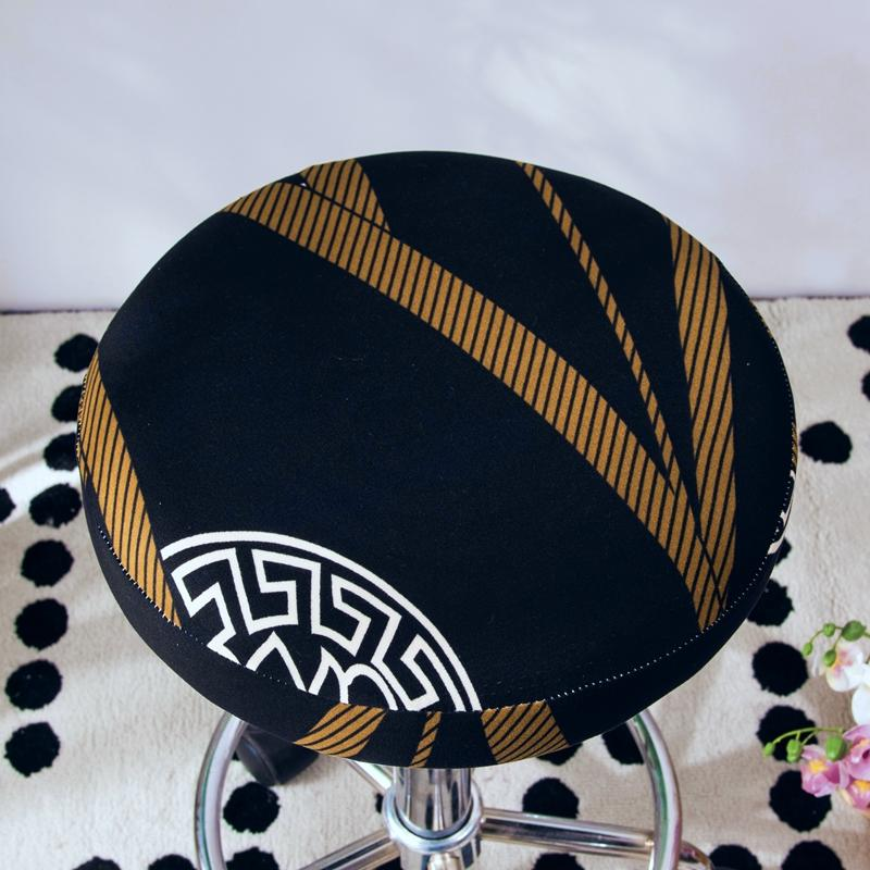 2020 Round Chair Cover Bar Stool Cover Elastic Seat Cover Home Chair Slipcover Round Chair Bar Stool Floral Printed 1
