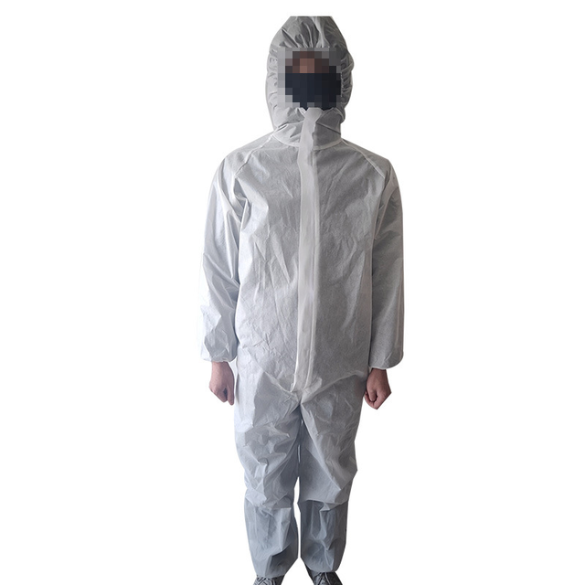 SMS Disposable coverall Safety Clothing safety ppe chemical isolation suit coverall full body protective Suit Cleanroom Garment 2