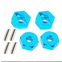 4pcs Aluminum Alloy Wheel Hex Nuts With Pins Drive Hubs 12mm Locknut Adapter RC Car Metal Accessories For 4WD RC Car