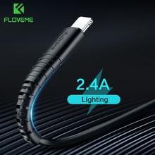 Floveme照明用ケーブルusb充電器コードハイ引張usbケーブル充電appleのiphone xs最大xr × 7 6 s 6 sプラスショートワイヤー