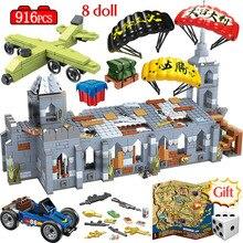 916 шт Часовня боевые поля блоки LegoINGLY WW2 Армия Военный Город полиция оружие PUBG строительные блоки игрушки для мальчиков