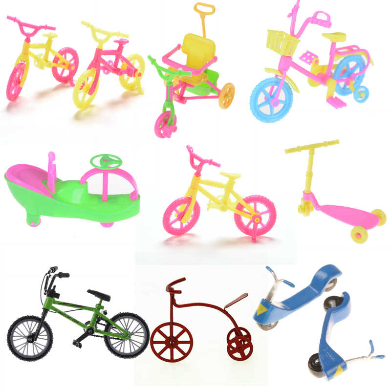 Mixed Style Doll Accessories Bicycle Bike/Scooter Outdoor Sports Toy for  Doll Dollhouse Ken Kids Gift Set