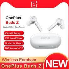 Versão global cn oneplus botões z tws sem fio bluetooth 5.0 fone de ouvido ip55 resistente à água fones 450mah jogos esporte