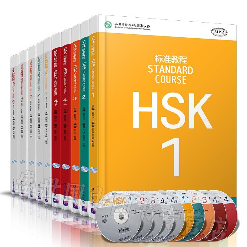 10 pz/lotto Cinese Inglese Bilingue libro di esercitazione HSK studenti cartella di lavoro e Libro di Testo: Standard Corso HSK 1 4 su  Gruppo 2