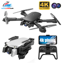 цена на Dropshopping FPV WIFI Foldable Drone 4K HD Aerial Camera Quadcopter Optical Flow Hover Smart Follow Me Dual Camera RC Helicopter