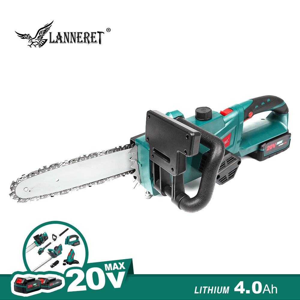 Chainsaw 20V Cordless Chain Saw 4.0Ah Battery And Charger Household Wood Cutter