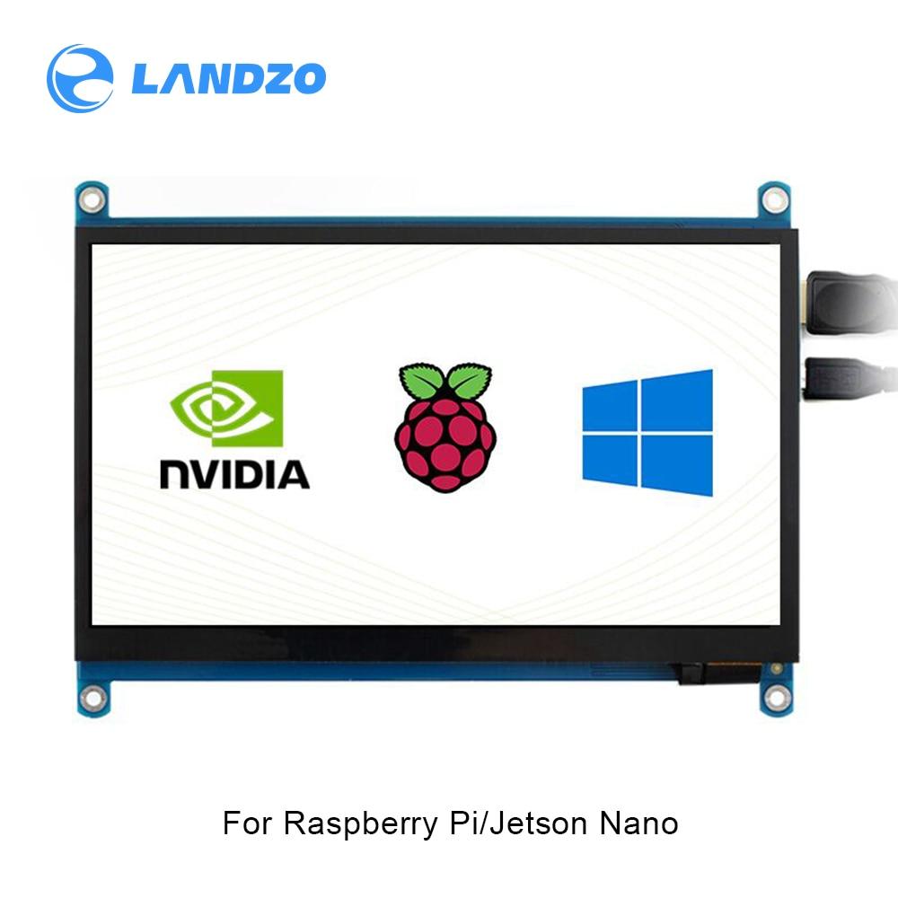7 дюймов HDMI lcd 1024x600 Аппаратное Разрешение ips емкостный сенсорный экран поддерживает различные системы несколько мини-шт Raspberry Pi