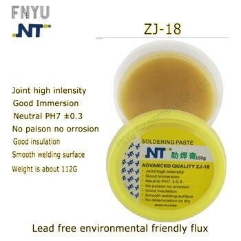 цена на Solder Flux Soldering Paste NT ZJ-18 150g Yellow paste Advance Quality Solder Flux Soldering Paste High Intensity Free Rosin