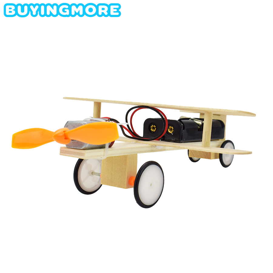 Electric Glider Model Kit Toys For Children Education Science Child Experiment Physics Toy Wood Model DIY Aircraft Modeling Gift