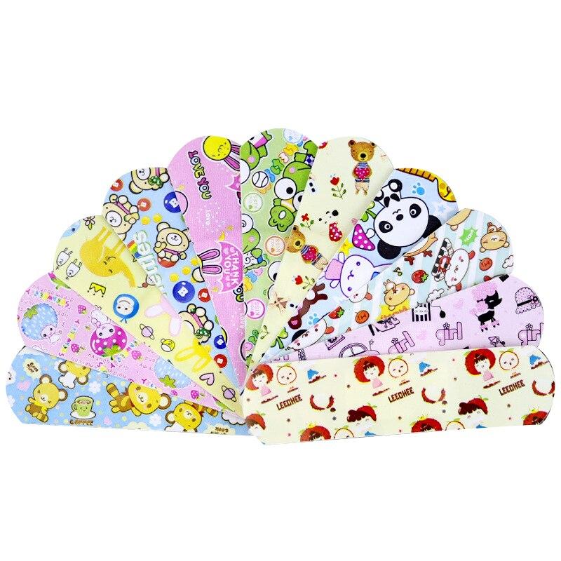 120PCs Wasserdicht Atmungsaktiv Nette Cartoon Pflaster Hämostase Klebstoff Bandagen Erste Hilfe Notfall Kit Für Kinder Kinder